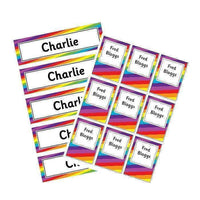 EDITABLE Name Tray & Coat Peg Labels Bundle:Primary Classroom Resources,Digital download / Rainbow stripe