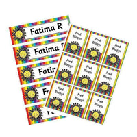 EDITABLE Name Tray & Coat Peg Labels Bundle:Primary Classroom Resources,Digital download / Rainbow and sun
