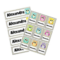 EDITABLE Name Tray & Coat Peg Labels Bundle:Primary Classroom Resources,Digital download / Colourful owl