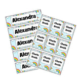 EDITABLE Name Tray & Coat Peg Labels Bundle:Primary Classroom Resources,Digital download / Rainbow and clouds