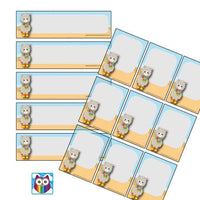 EDITABLE Name Tray & Coat Peg Labels Bundle:Primary Classroom Resources,Digital download / Llamas