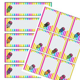 EDITABLE Name Tray & Coat Peg Labels Bundle:Primary Classroom Resources,Digital download / Rainbow Stripe Pencils