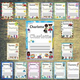 EDITABLE Name Writing Cards - Choose your theme!:Primary Classroom Resources