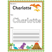 EDITABLE Name Writing Cards - Choose your theme!:Primary Classroom Resources,Dinosaur