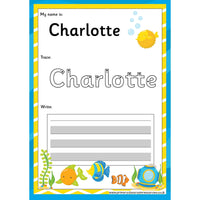 EDITABLE Name Writing Cards - Choose your theme!:Primary Classroom Resources,Fish