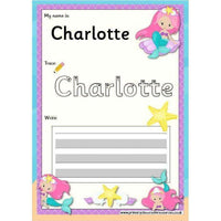 EDITABLE Name Writing Cards - Choose your theme!:Primary Classroom Resources,Mermaid