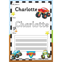 EDITABLE Name Writing Cards - Choose your theme!:Primary Classroom Resources,Monster Truck