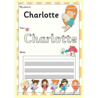 EDITABLE Name Writing Cards - Choose your theme!:Primary Classroom Resources,Fairy (Orange)