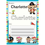 EDITABLE Name Writing Cards - Choose your theme!:Primary Classroom Resources,Pirate Monkey