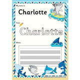 EDITABLE Name Writing Cards - Choose your theme!:Primary Classroom Resources,Shark