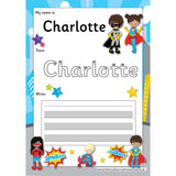EDITABLE Name Writing Cards - Choose your theme!:Primary Classroom Resources,Superhero
