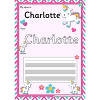 EDITABLE Name Writing Cards - Choose your theme!:Primary Classroom Resources,Unicorn