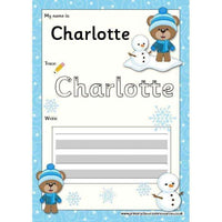 EDITABLE Name Writing Cards - Choose your theme!:Primary Classroom Resources,Winter Bear