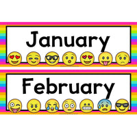 Emoji Months of the Year:Primary Classroom Resources