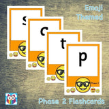Emoji Themed Phase 2 Phonemes (large):Primary Classroom Resources