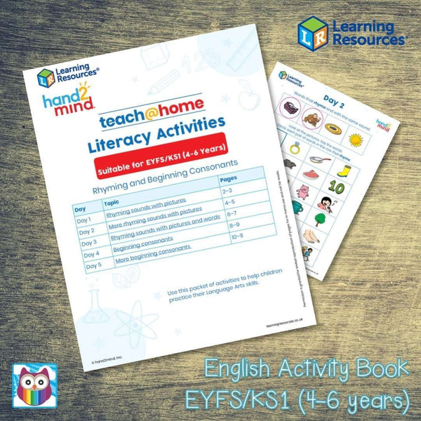 English Activity Book - EYFS/KS1 (4-6 years):Primary Classroom Resources