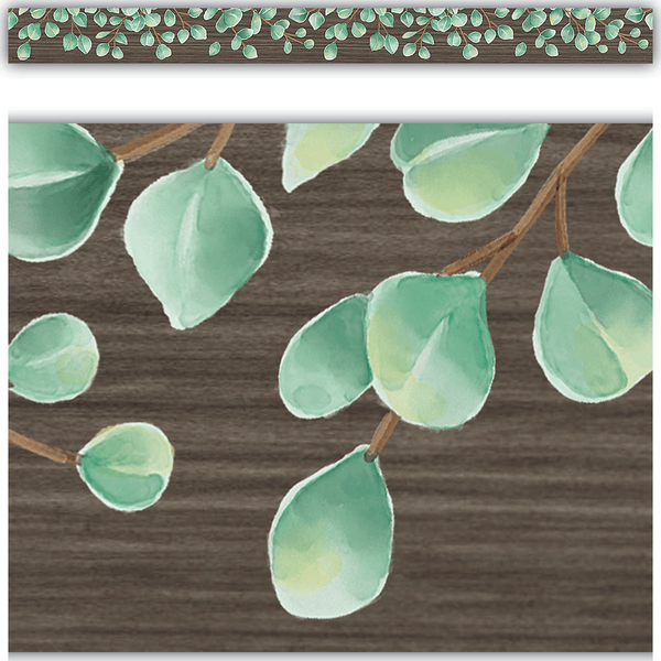Eucalyptus Straight Classroom Display Border:Primary Classroom Resources