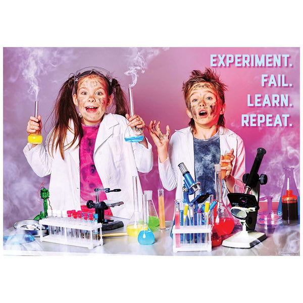 Experiment. Fail. Learn. Repeat. - Inspire U Poster:Primary Classroom Resources
