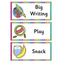 EXTRA CARDS - Rainbow Visual Timetable Cards:Primary Classroom Resources