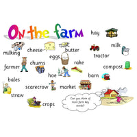 Farm Vocabulary Mat:Primary Classroom Resources