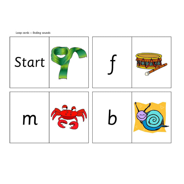 Final Sounds Loop Cards:Primary Classroom Resources