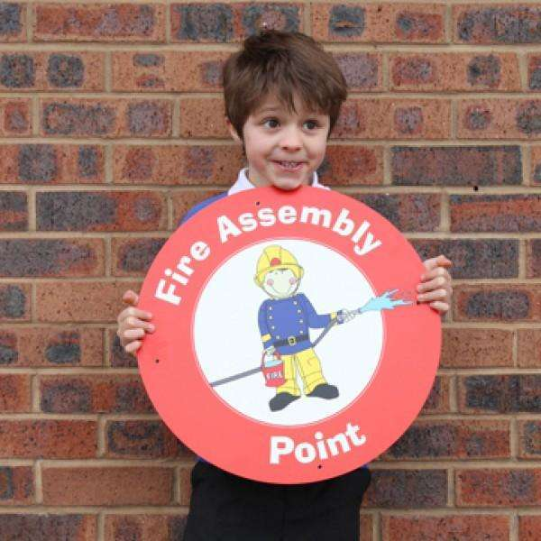 Fire Assembly Point Wall Sign:Primary Classroom Resources