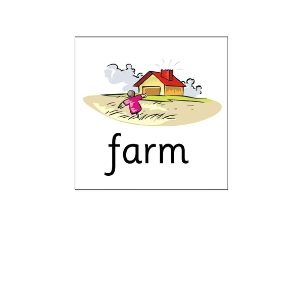 Floor Robot Cards - Farm Words:Primary Classroom Resources