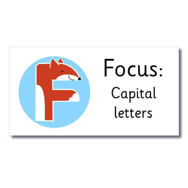 Focus Marking Stickers - Capital Letters:Primary Classroom Resources