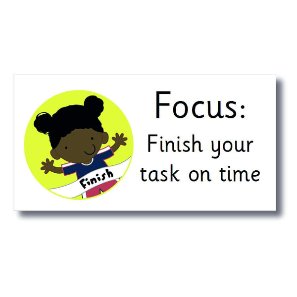 Focus Marking Stickers - Finish your task on time:Primary Classroom Resources