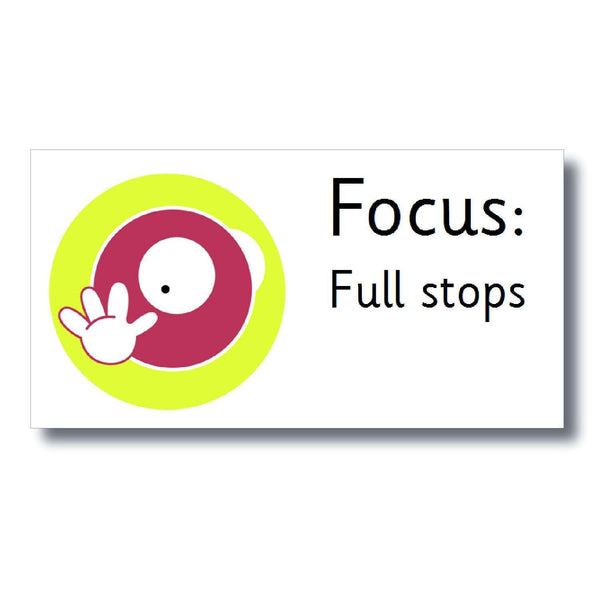 Focus Marking Stickers - Full stops:Primary Classroom Resources