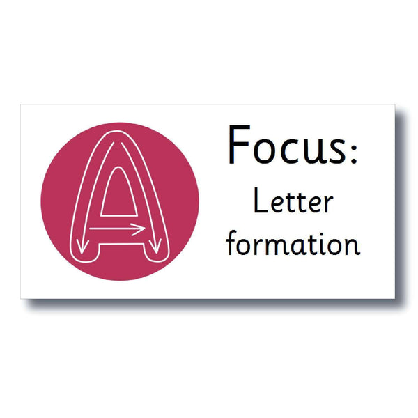 Focus Marking Stickers - Letter formation