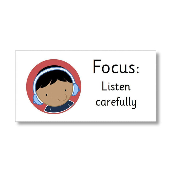 Focus Marking Stickers - Listen carefully:Primary Classroom Resources