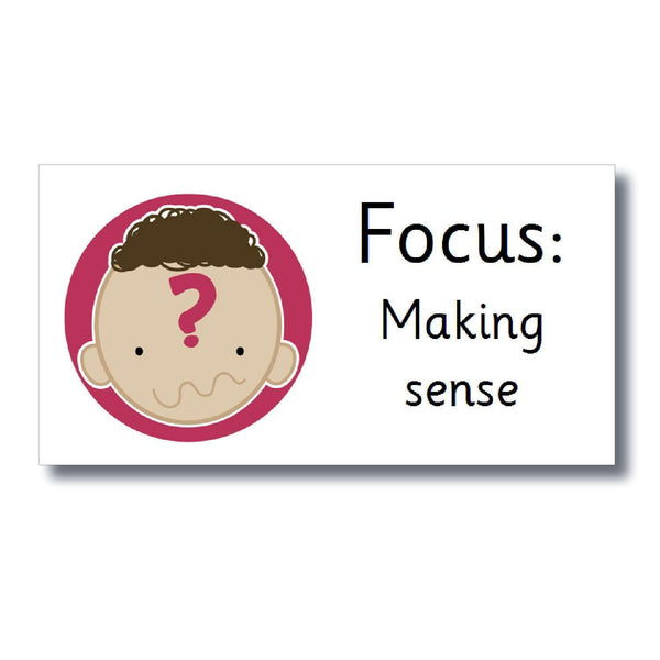 Focus Marking Stickers - Making sense:Primary Classroom Resources