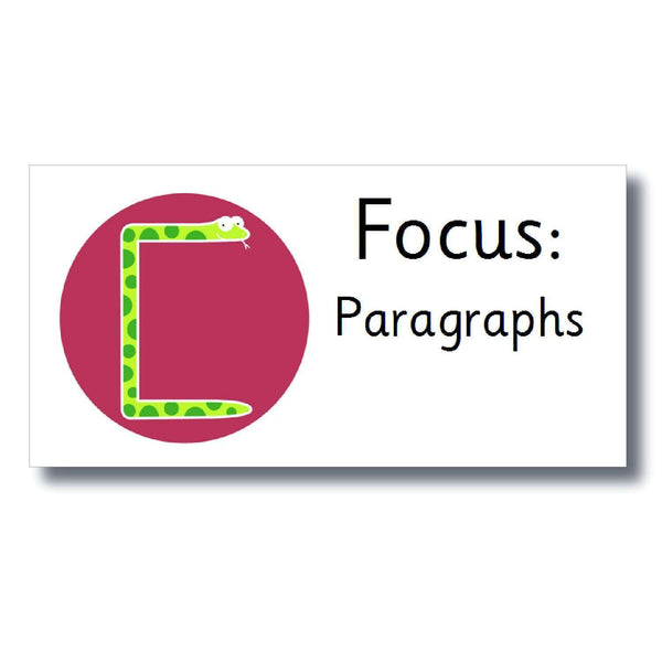 Focus Marking Stickers - Paragraphs:Primary Classroom Resources