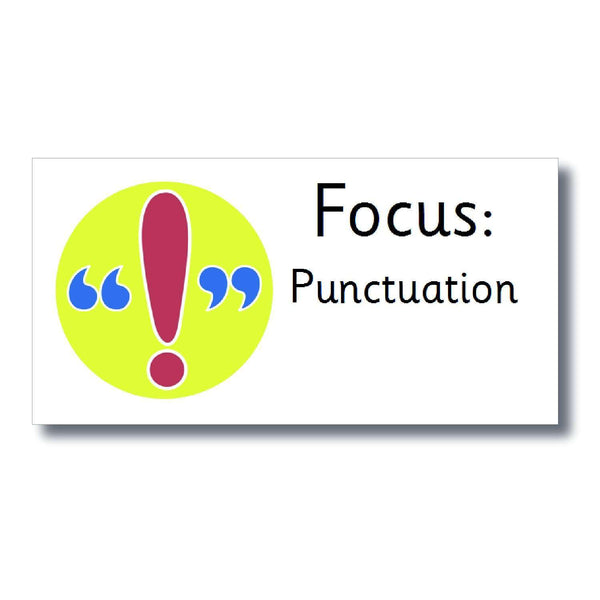 Focus Marking Stickers - Punctuation:Primary Classroom Resources
