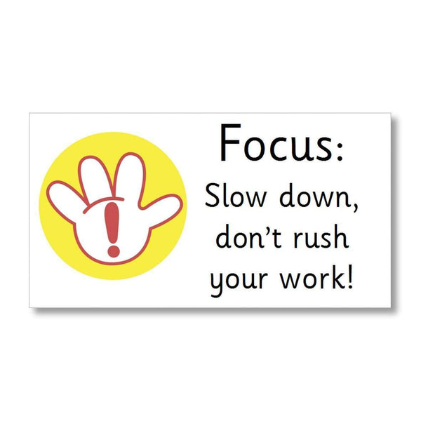 Focus Marking Stickers - Slow down