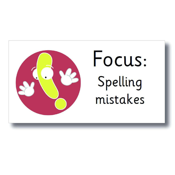 Focus Marking Stickers - Spelling mistakes
