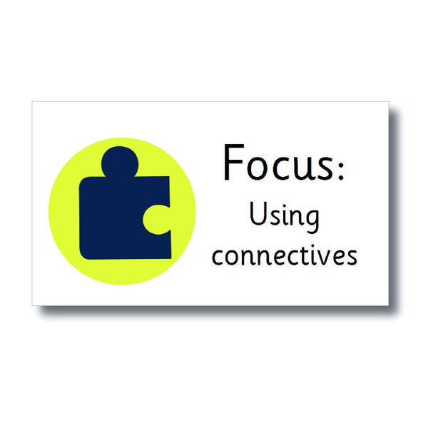 Focus Marking Stickers - Using connectives:Primary Classroom Resources