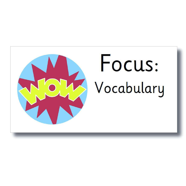 Focus Marking Stickers - Vocabulary:Primary Classroom Resources