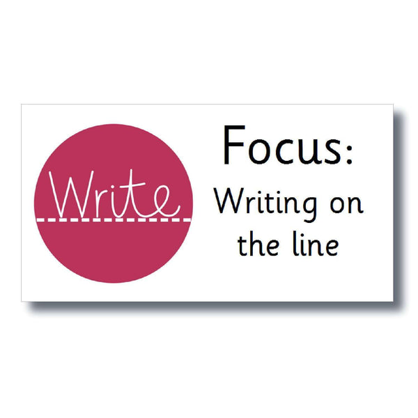 Focus Marking Stickers - Writing on the line:Primary Classroom Resources