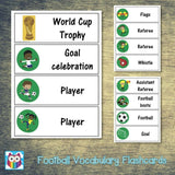 Football Vocabulary Flashcards:Primary Classroom Resources