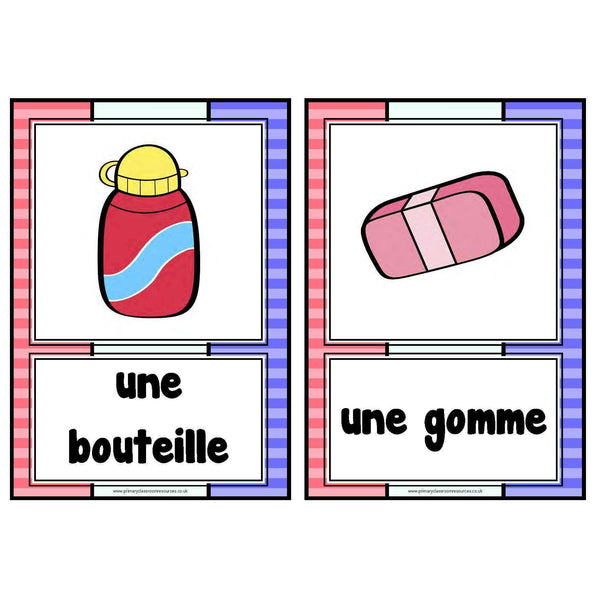 French Classroom Objects Cards