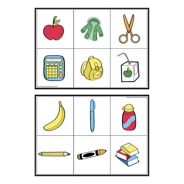 French Classroom Objects Matching Game