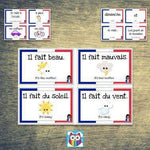 French Vocabulary Cards - Days of the Week, Weather and Transport