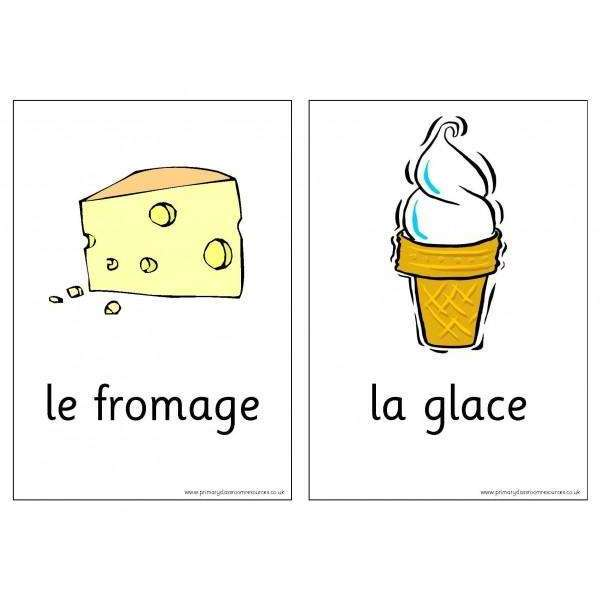 French Vocabulary Cards - Food:Primary Classroom Resources