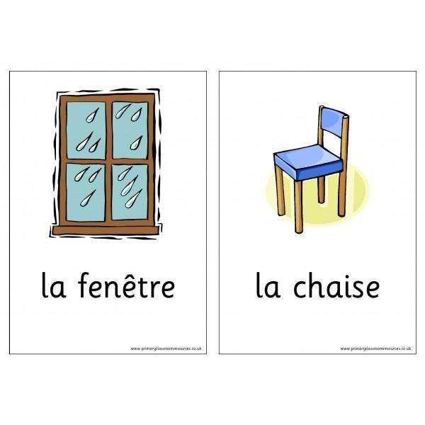 French Vocabulary Cards - In the Home:Primary Classroom Resources