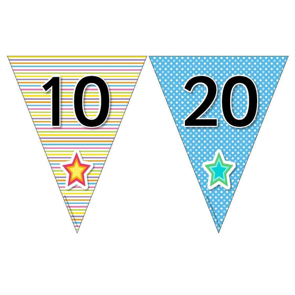 Funky Number Bunting - Counting in 10s and 100s