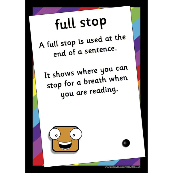 Funky Punctuation Character Posters:Primary Classroom Resources