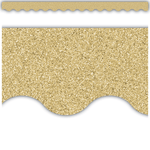 Gold Glitz Scalloped Display Border:Primary Classroom Resources