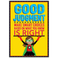 Good Judgement - Superhero Inspire U Poster:Primary Classroom Resources